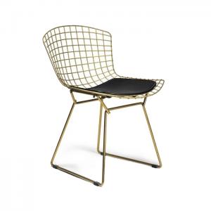 صندلی فلزی برتویا طلایی